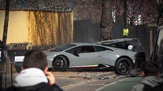 Lamborghini Huracan Performante CRASH in London