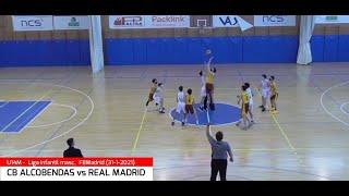 U14M - CB ALCOBENDAS vs REAL MADRID.- Liga Infantil Masc. FBMadrid #BasketCantera.TV (31/01/2021)