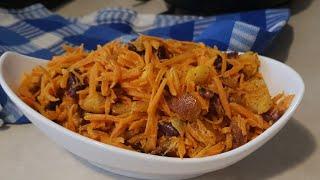 Салат из моркови с сухариками, вкусно,быстро, просто