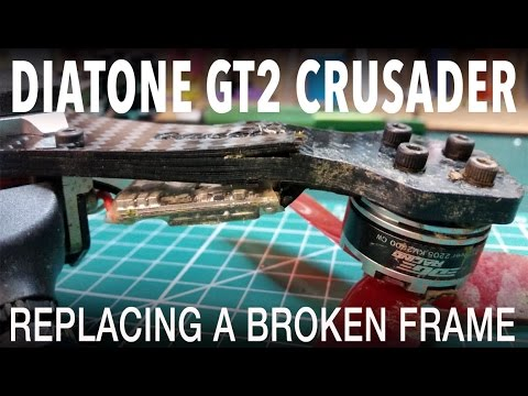 Diatone GT2 200 Crusader - replacing a broken frame