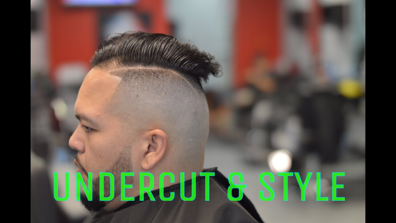 High Skin Fade Undercut With Style And Beard Youtube
