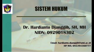 Sistem Hukum II Pengantar Ilmu Hukum II FH-UMI