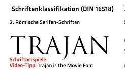 1.1.3.: Schriftenklassifikation (DIN 16518)