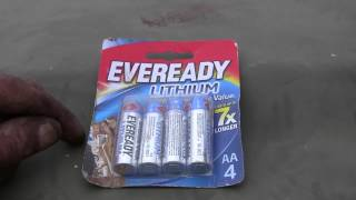 Battery Review - AA Eveready Lithium Batteries