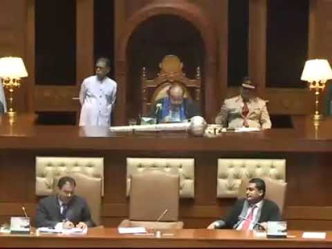 Great opening speech at Sindh Assembly