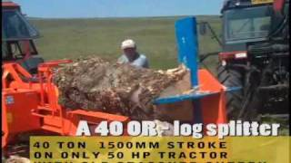 Riko UK - 40 ton horizontal log splitter