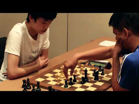 Psychologie warfare! Lu Shanglei, World champion U20, Blitz tournament Thailand Open 2013
