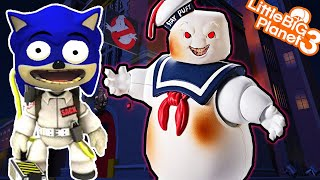 Sonic and *TwiSted* Stay Puft Marshmallow Man | LittleBigPlanet 3