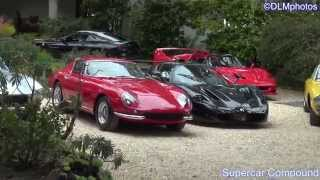 Supercar House! Maserati MC12, Ferrari F50, 599 GTO, 250 GT Lusso, Etc... - Monterey Auto Week 2013