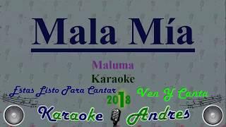 Mala Mía - Maluma [ Karaoke ] Produce Cristian Remix