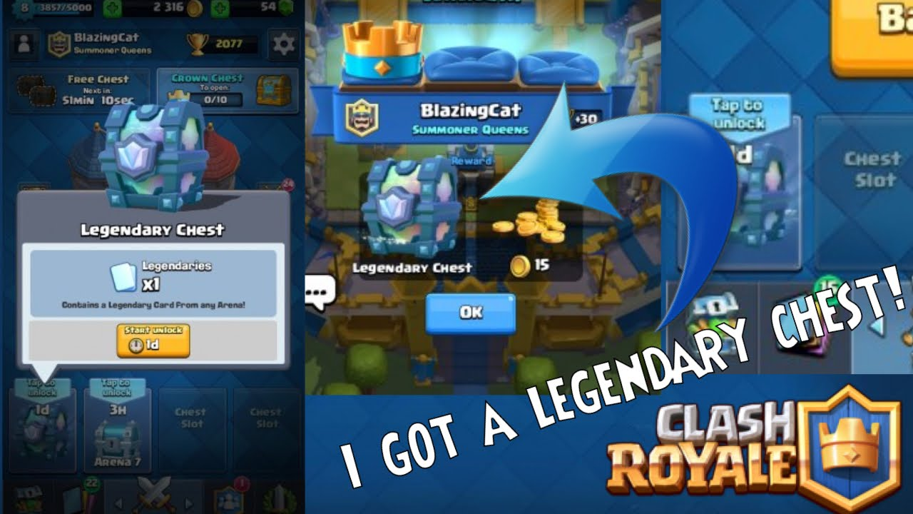 OMG!!I GOT A LEGENDARY CHEST!!!+Awesome wins|Clash Royale ...