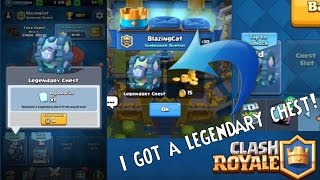 OMG!!I GOT A LEGENDARY CHEST!!!+Awesome wins|Clash Royale|2016