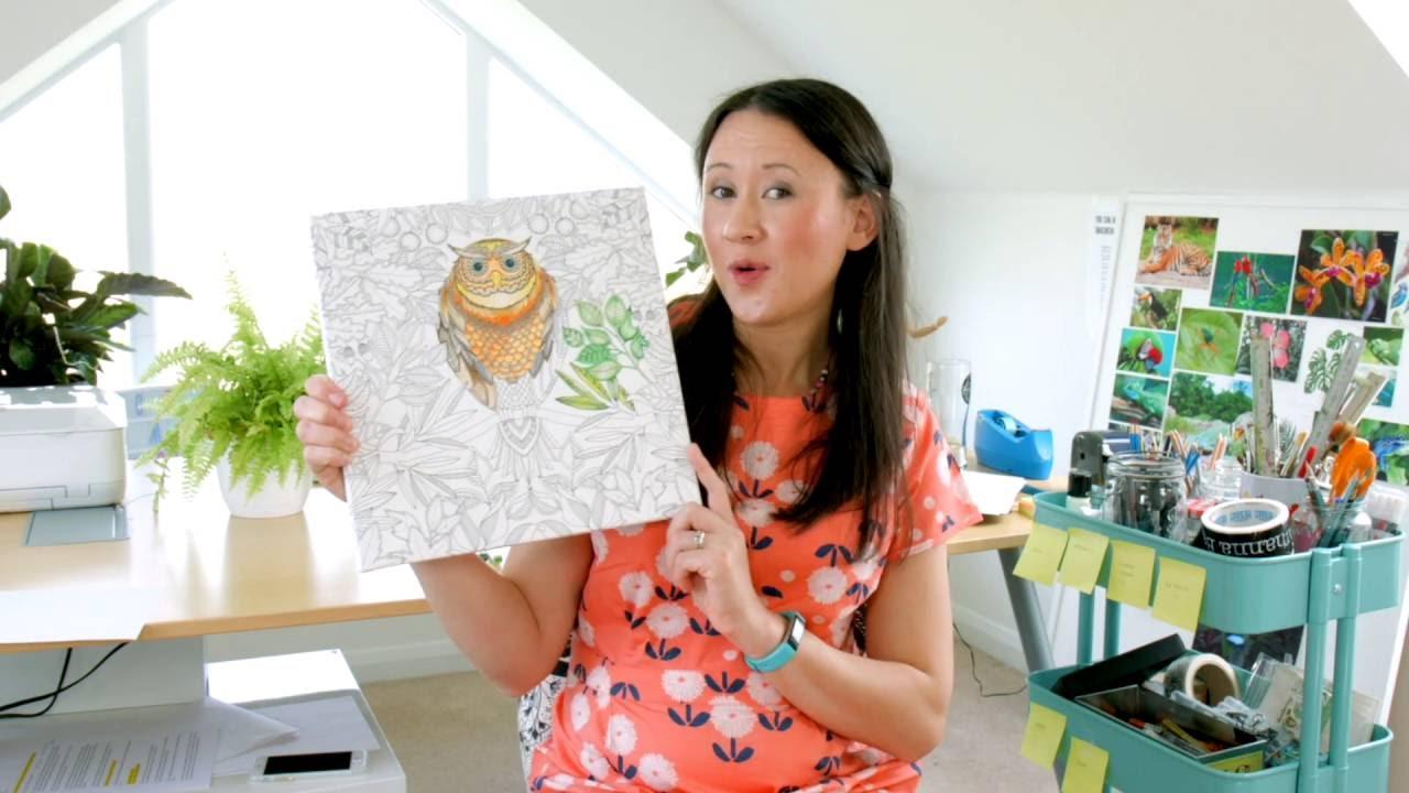 Johanna Basford Coloring Canvas Full Tutorial - YouTube