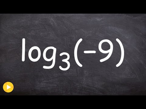 Can you evaluate a log for a negative number