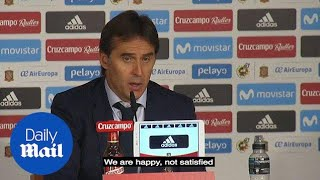 'We're happy not satisfied': Julen Lopetegui after Spain's win - Daily Mail