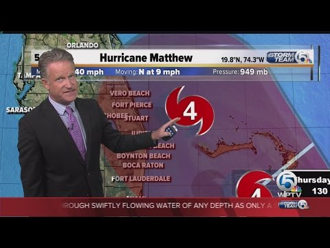 Hurricane Matthew 6 p.m. update