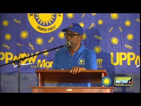 Hon. Harold Lovell speaks at UPP Rally Mock Pond Rally