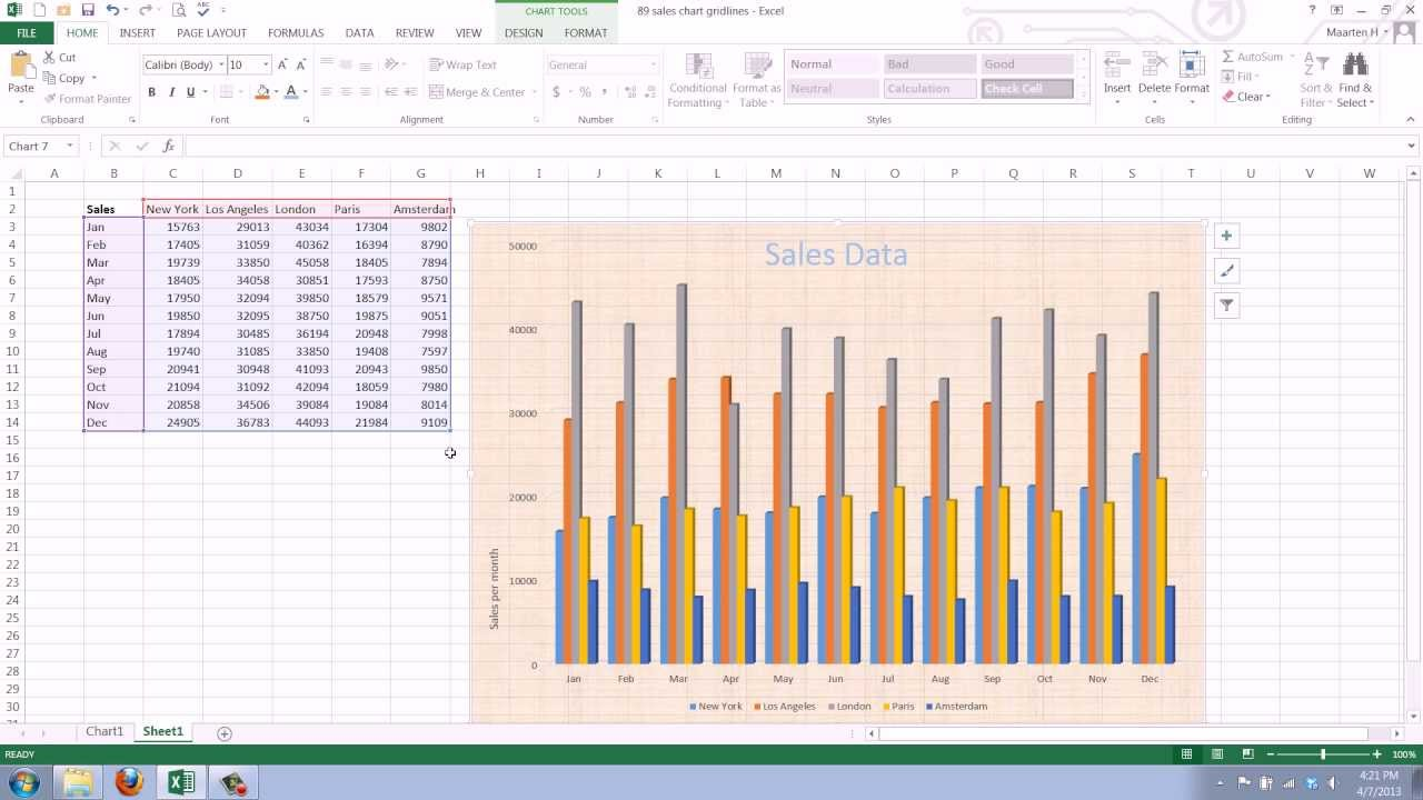 Background image in excel - How To Change The Background Of An Excel 2013 Chart