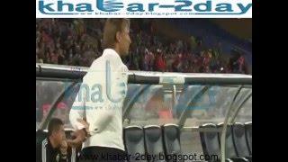 لقطة طريفة من هيرفي رونار في مبارات المنتخب المغربي و الراس الاخضر