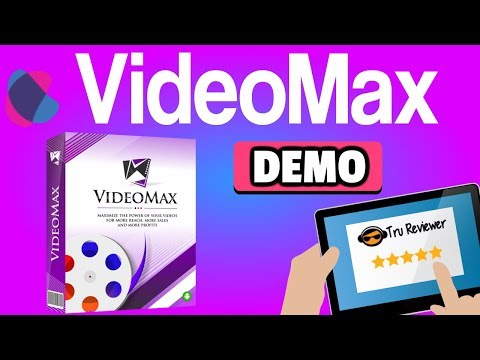 VideoMax Review Demo - Optins, Buy Buttons with Tons of One Click Traffic. http://bit.ly/2ZGeOXD