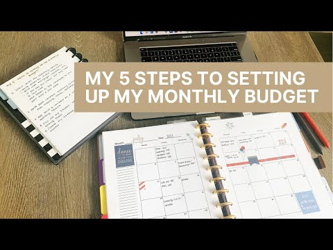 My 5 Steps For Setting Up My Monthly Budget