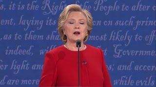 Presidential Debate - Clinton on Trump's refusal to release tax returns: