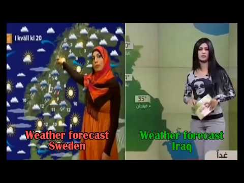 Weather forecast in Iraq and in Sweden