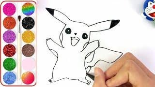 Tô màu Pokemon cho bé | Bé tập vẽ tranh tô màu