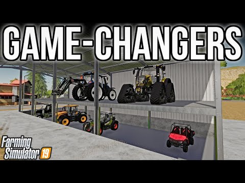 new-mods-fs19!-best-shed-i've-ever-seen-+-rear-front-loader?-yes.-game-changing-mods!-(23-mods)