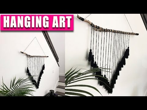 NEW! DIY Hanging ART - Tree Branch Wall Decor