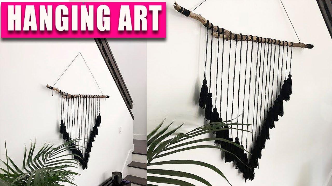 DIY Wall Hanging Ideas - Tree Branch Wall Art & DIY Wall Hanging Ideas - Tree Branch Wall Art - YouTube