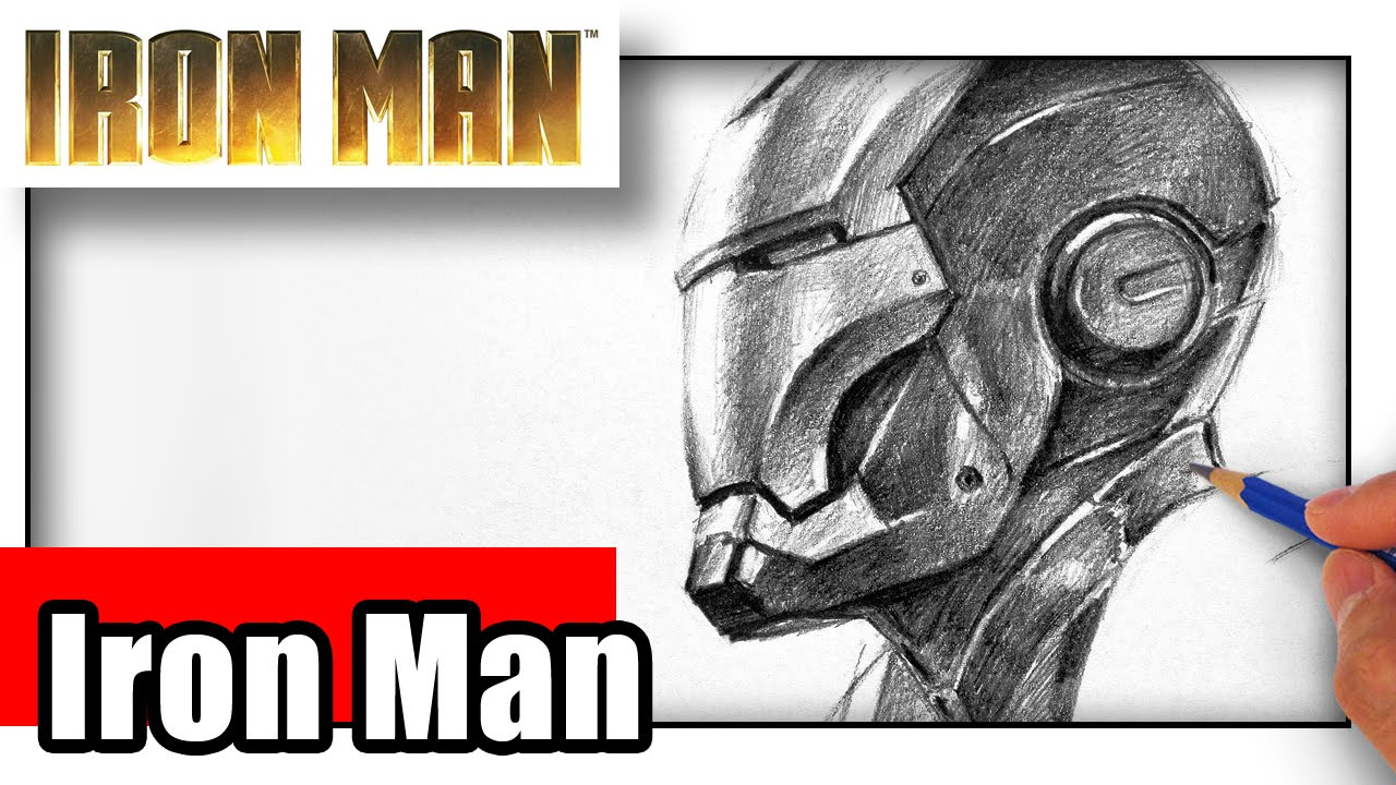 how to draw iron man youtube