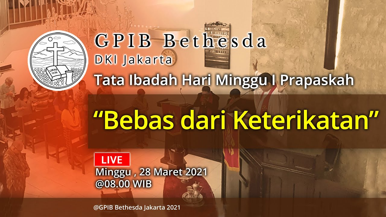 Ibadah Hari Minggu I Prapaskah (28 Maret 2021)