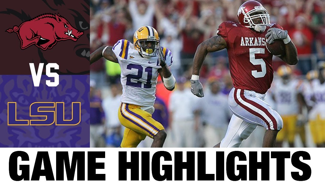 Arkansas vs #1 LSU | 2007 Game Highlights | 2000's Games of the Decade