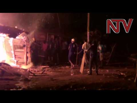 Houses burnt in Locco village, Jinja municipality