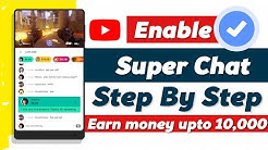 How To Enable Super Chat On Youtube || Step By Step || Android || Hindi