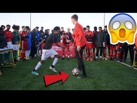 CAN I NUTMEG A WHOLE FOOTBALL TEAM !? (CRAZY REACTIONS)