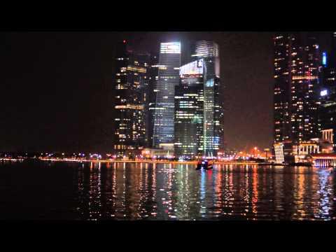 Marina Bay Financial Centre at Night