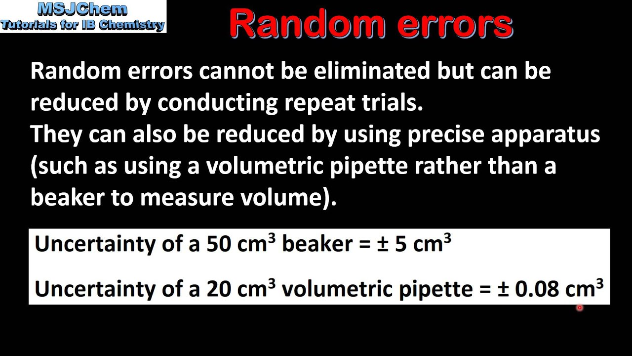 111 Random And Systematic Errors Sl Youtube