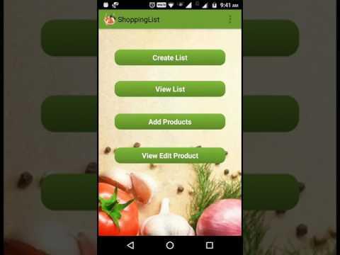 shopping list maker android app youtube