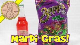 Zapp's Spicy Cajun Crawtators Potato Chips - Dublin Cherry Limeade, Mardi Gras!!