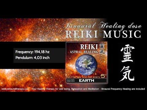 靈氣 Reiki Music Healing: EARTH Meditation (Real Planet Frequencies Therapy with Bell Every 5 Minutes)