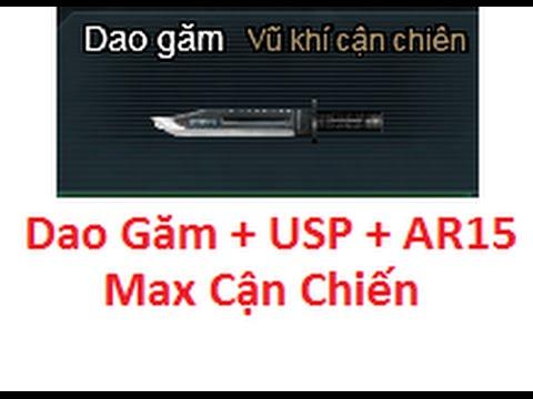 Bình Luận Truy Kich   Dao Găm + USP + AR15 Max Cận Chiến ĐUA TOP ✔