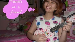 Trouble is a Friend~Lenka (Ukulele Cover) by Indi Sugar :)