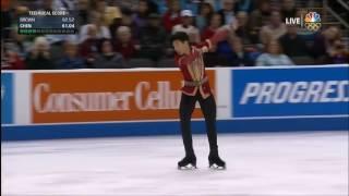 Nathan Chen 2017 US Championships LP no jumps/spins