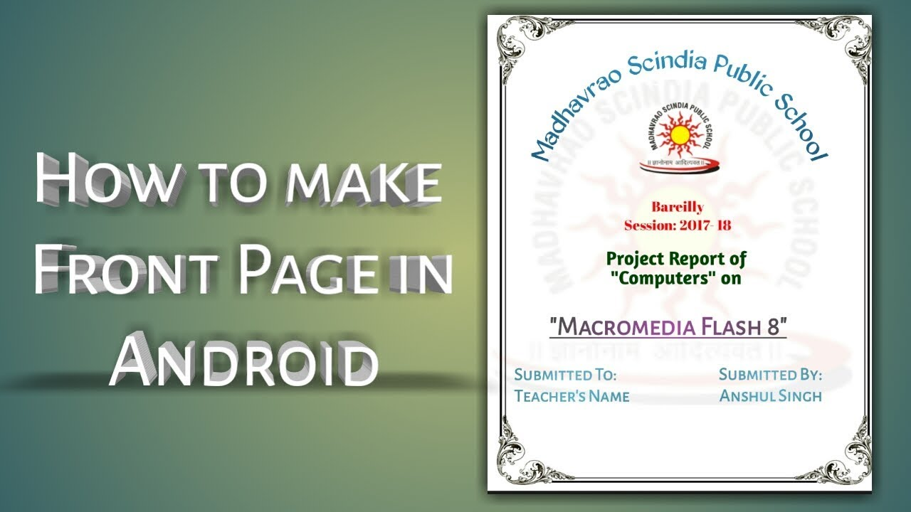 how to make front page in android mobile
