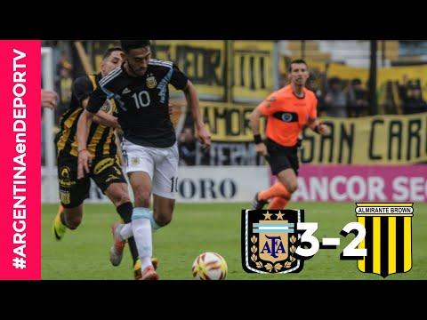 Argentina 3-2 Almirante Brown | Resumen y Goles - Fútbol Masculino - Amistoso previo Panamericanos
