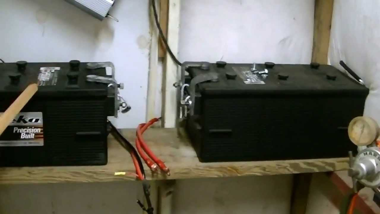how to connect solar panels to battery bank charge controller inverter wiring diagrams youtube [ 1280 x 720 Pixel ]
