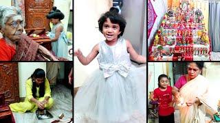 Our Saraswathy Pooja Vlog 2020 - Fun Family Vlog - Amma Veetu Golu - Amma Navrathri Recipes